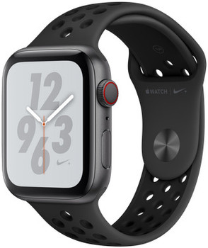 Apple Watch Nike+ Series 4 44 mm aluminium spacegrijs met Nike sportarmband [wifi + cellular] grijszwart
