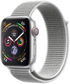 Apple Watch Series 4 44 mm aluminium zilver met sportbandje [wifi + cellular] grijs