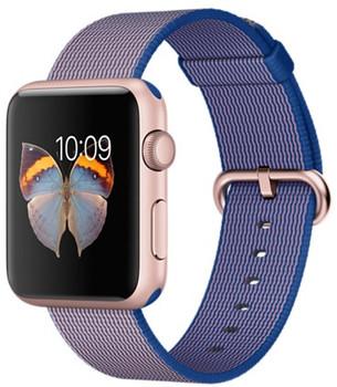 Apple Watch Sport 42mm oro rosa con cinturino in nylon blu elettrico [Wifi]