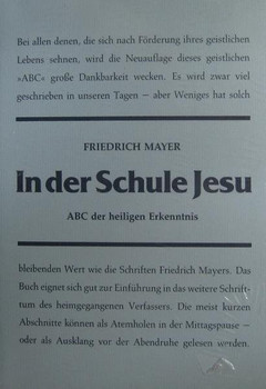 In der Schule Jesu. ABC der heiligen Erkenntnis - Friedrich Mayer  [Gebundene Ausgabe]