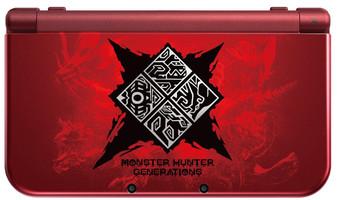 New Nintendo 3DS XL [Special Monster Hunter Generations] noire et rouge