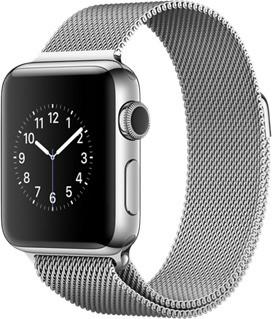 Apple Watch Series 2 38mm Caja de acero inoxidable plata con pulsera Milanese Loop plata [Wifi]
