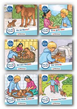 Mats, Mila und Molly – Heft 1-6 , Schwierigkeitsstufe A. Eine Geschichte in drei Schwierigkeitsstufen für Erstleser - Helge Dr. Weinrebe  [Taschenbuch]