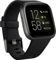 Fitbit Versa 40 mm aluminium zwart met siliconen armband [wifi] zwart