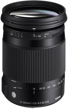 Sigma C 18-300 mm F3.5-6.3 DC HSM OS Macro 72 mm Objectif (adapté à Sigma AF) noir