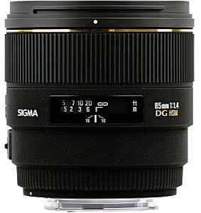 Sigma 85 mm F1.4 DG EX HSM 77 mm Obiettivo (compatible con Sony A-mount) nero