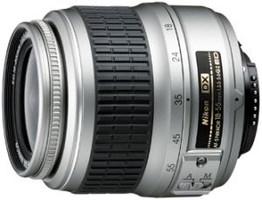 Nikon AF-S DX NIKKOR 18-55 mm F3.5-5.6 ED G 52 mm Objetivo (Montura Nikon F) plata