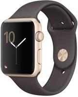 Apple Watch Series 1 42 mm - Boîtier en aluminium or et bracelet cacao [Wi-Fi]