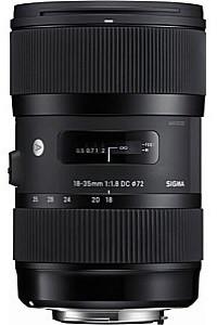 Sigma A 18-35 mm F1.8 DC HSM 72 mm Objectif (adapté à Canon EF-S) noir