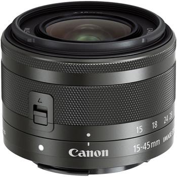 Canon EF-M 15-45 mm F3.5-6.3 IS STM 49 mm Obiettivo (compatible con Canon EF-M) nero