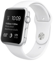 Apple Watch Sport 42mm plata con correa deportiva blanca [Wifi]