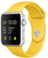 Apple Watch Sport 42 mm zilver met sportbandje geel [wifi]