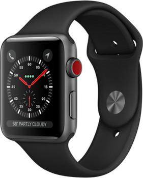 Apple Watch Series 3 42mm Caja de aluminio en gris espacial con correa deportiva negra [Wifi + Cellular]