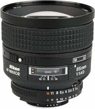 Nikon AF NIKKOR 85 mm F1.4 D IF 77 mm Objectif (adapté à Nikon F) noir