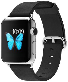 Apple Watch 38mm plata con correa negra con hebilla clásica [Wifi]