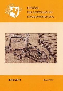 Beiträge zur westfälischen Familienforschung. Band 70/71 2012/2013 [Gebundene Ausgabe]