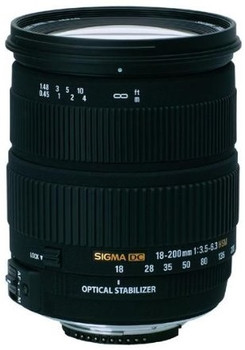 Sigma 18-200 mm F3.5-6.3 DC HSM OS 72 mm filter (geschikt voor Nikon F) zwart