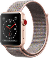 Apple Watch Series 3 42mm cassa in alluminio oro con cinturino Loop Sport rosa sabbia [Wifi + Cellular]
