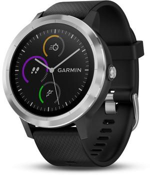 Garmin Vivoactive 3 30,4mm plata con correa de silicona negra