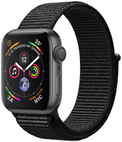Apple Watch Series 4 40 mm boîtier en aluminium gris sidéral avec Boucle Sport noir [Wifi]