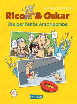 Rico & Oskar (Kindercomic): Die perfekte Arschbombe - Andreas Steinhöfel  [Gebundene Ausgabe]