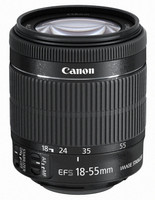 Canon EF-S 18-55 mm F3.5-5.6 IS STM 58 mm Obiettivo (compatible con Canon EF-S) nero