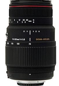 Sigma 70-300 mm F4.0-5.6 APO DG Macro 58 mm Objectif (adapté à Sony A-mount) noir