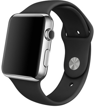 Apple Watch 42mm plata con correa deportiva negra [Wifi]