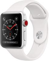 Apple Watch Series 3 42 mm aluminium zilver met sportarmband wit [wifi + cellular]