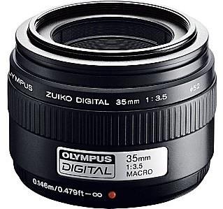 Olympus Zuiko Digital 35 mm F3.5 52 mm Obiettivo (compatible con Four Thirds) nero