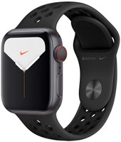 Apple Watch Nike+ Series 5 40 mm Aluminiumgehäuse space grau am Nike Sportarmband anthrazit/schwarz [Wi-Fi + Cellular]