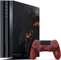 Sony PlayStation 4 pro (1 TB) [Monster Hunter: World Edition incl. draadloze controller, zonder spel] zwart
