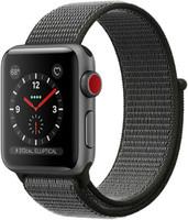 Apple Watch Series 3 38 mm aluminium spacegrijs met geweven sportbandje zwart [wifi + cellular]