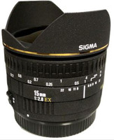 Sigma 15 mm F2.8 EX Diagonal-Fisheye (compatible con Sony A-mount) nero