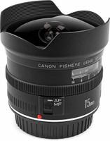 Canon EF 15 mm F2.8 Fisheye (geschikt voor Canon EF) zwart