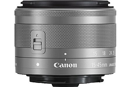 Canon EF-M 15-45 mm F3.5-6.3 IS STM 49 mm filter (geschikt voor Canon EF-M) zilver