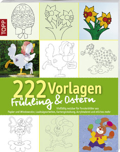 222 Vorlagen Frühling Ostern Vielfältig Nutzbar Für Fensterbilder