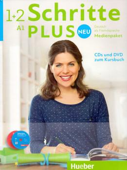 Schritte plus Neu - Deutsch als Fremdsprache, Bd.1+2 : Medienpaket, 5 Audio-CDs und 1 DVD zum Kursbuch [6 CD´s]