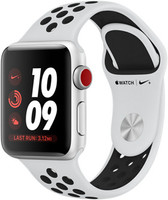 Apple Watch Nike+ Series 3 38mm Caja de aluminio en plata con correa Nike Sport platino puro / negro [Wifi + Cellular]