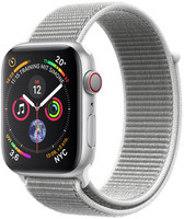 Apple Watch Series 4 44 mm aluminium zilver met sportbandje [wifi + cellular] grijs