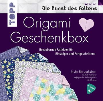 Origami Geschenkbox. Buch mit Faltanleitungen, 50 Faltblättern und einem Falz-Plektron (Buch plus Material) - Armin Täubner  [Taschenbuch]