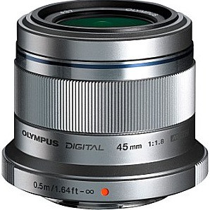 Olympus M.Zuiko Digital 45 mm F1.8 37 mm filter (geschikt voor Micro Four Thirds) zilver