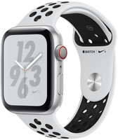 Apple Watch Nike+ Series 4 44mm caja de aluminio en plata y correa Nike Sport platino puro/negra [Wifi + Cellular]