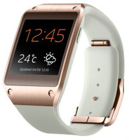 Samsung Galaxy Gear  41,4mm oro con correa de goma beige