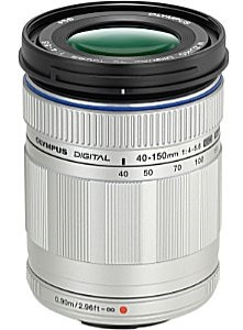 Olympus 40-150 mm F4.0-5.6 ED 58 mm filter (geschikt voor Micro Four Thirds) zilver