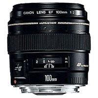 Canon EF 100 mm F2.0 USM 58 mm Objectif (adapté à Canon EF) noir
