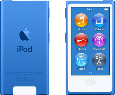Apple iPod nano 7G 16GB blauw [2015]