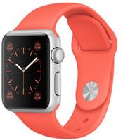 Apple Watch Sport 38mm plata con correa deportiva melocotón [Wifi]