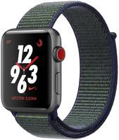 Apple Watch Nike+ Series 3 38mm Caja de aluminio en gris espacial con correa Nike Sport Loop negro noche [Wifi + Cellular]