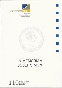 In Memoriam Josef Simon - Universität Bonn  [Taschenbuch]
